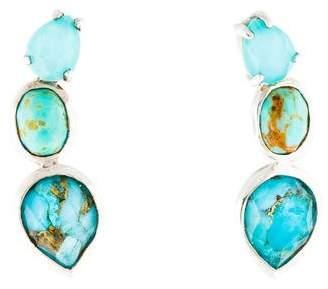 Ippolita Quartz & Turquoise Doublet Rock Candy Ear Climbers