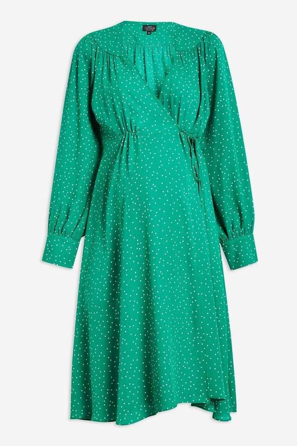 Topshop MATERNITY Spot Wrap Dress