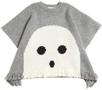 Stella McCartney Ghost Doubled Knit Wool Cape