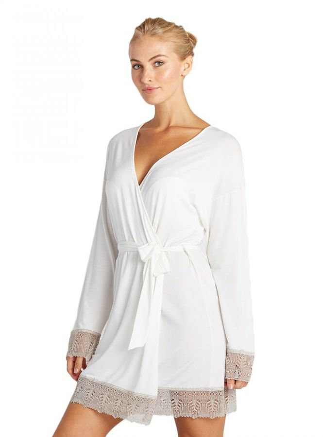 Cosabella Bacall Two Tone Sleepwear Robe