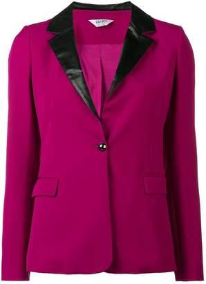 Liu Jo faux leather trim blazer