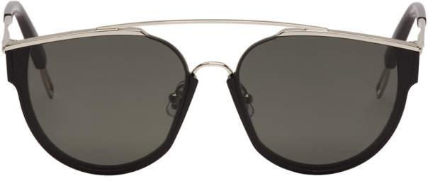 Gentle Monster Black and Silver Loe Sunglasses
