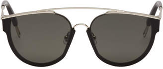 Gentle Monster Black and Silver Loe Sunglasses