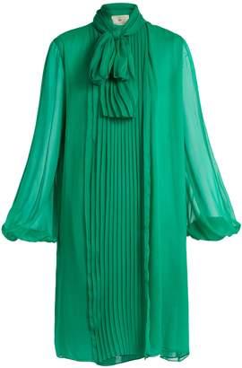 BY. BONNIE YOUNG Neck-tie silk-chiffon dress