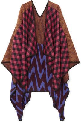 Missoni Intarsia Wool Wrap - Brown