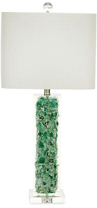 Couture Oceanaire Crystal Table Lamp - Emerald/Clear