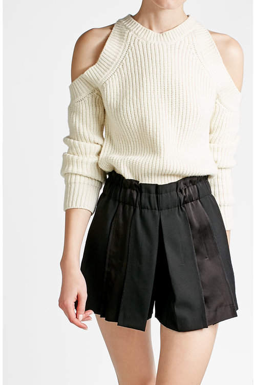 DKNY DKNY Wool Shorts with Satin