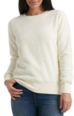 Lucky Brand Faux Fur Crewneck Sweater