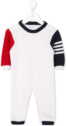 Thom Browne Kids colour block onesie