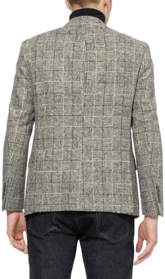 Ovadia & Sons Patterned Woven-Wool Blazer