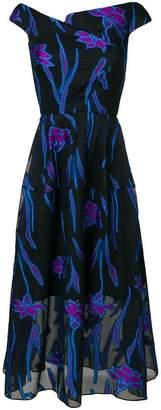 Roland Mouret floral midi dress