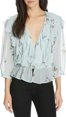Joie Arlene Floral Silk Blouse
