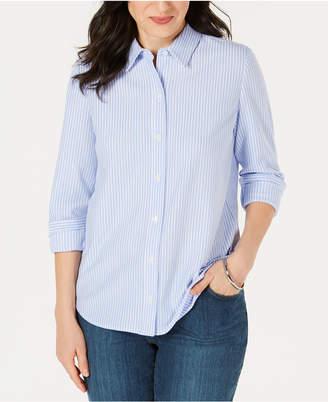 779f80a565f1a Charter Club Petite Cotton Striped Knit Shirt