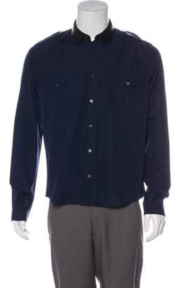 Gucci Duke Leather-Accented Military Shirt Duke Leather-Accented Military Shirt