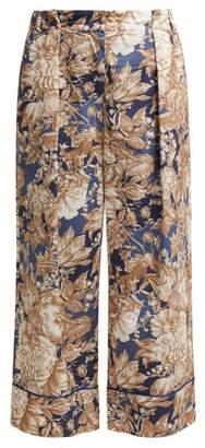 Max Mara Axe Trousers - Womens - Blue Multi