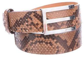 Etro Python & Leather Belt