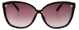 1b2d1b6904ec Pre-Owned at TheRealReal · Linda Farrow Snakeskin-Trimmed Oversize  Sunglasses