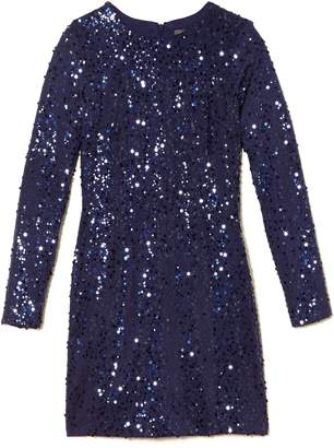 Vince Camuto Sequin Long-sleeve Dress