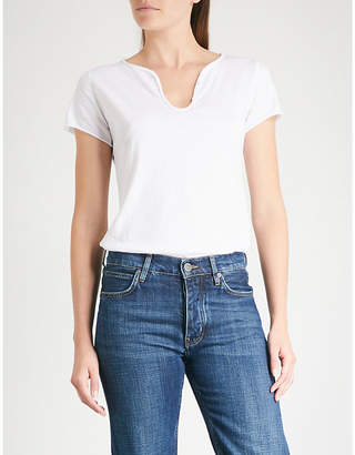 Zadig & Voltaire Button-embellished cotton-jersey T-shirt