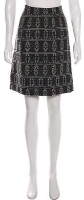 Akris Punto Printed Knee-Length Skirt