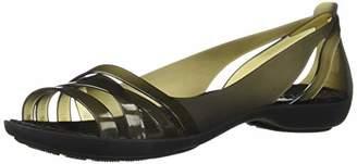 Crocs Women's Isabella Huarache 2 Flat Ballet Black