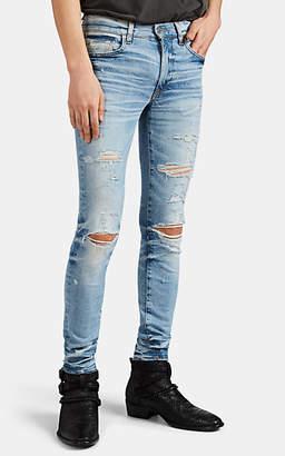 Amiri Men's Thrasher Plus Distressed Skinny Jeans - Blue