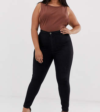 Asos DESIGN Curve Rivington high waist denim jeggings in clean black