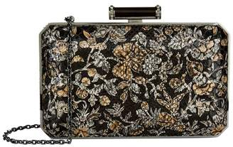 Judith Leiber Floral Jacquard Soho Clutch