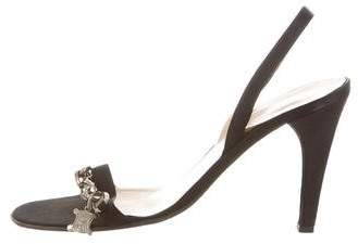 Céline Satin Slingback Sandals