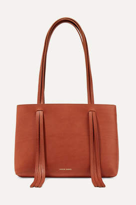 Mansur Gavriel East West Mini Fringed Leather Tote - Tan