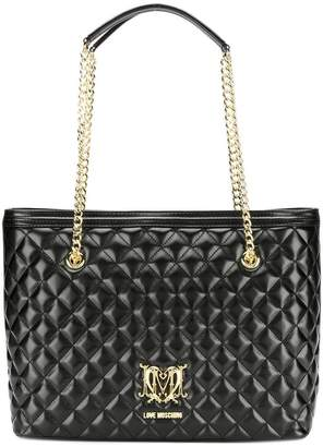Love Moschino quilted faux leather shopper