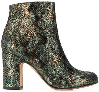 Chie Mihara (チエ ミハラ) - Chie Mihara snakeskin effect ankle boots