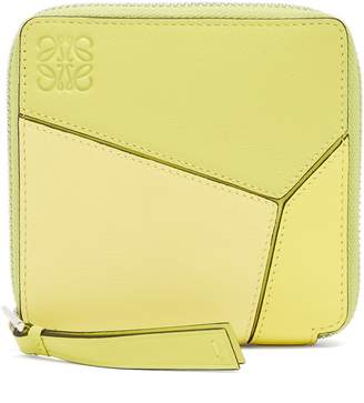 Loewe Puzzle small zip-around leather wallet