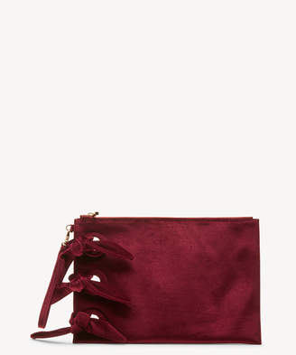 Sole Society Women's Kiya Clutch Velvet Berry From