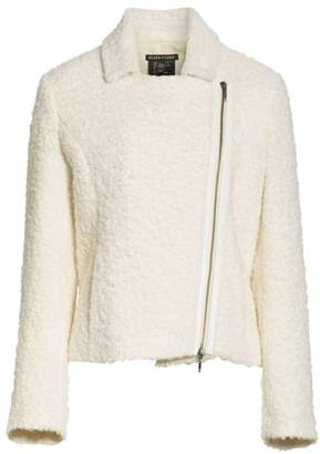 Eileen Fisher Alpaca Wool Blend Boucle Moto Jacket