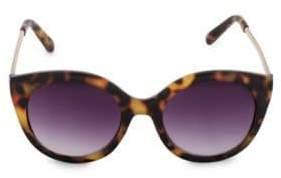 Steve Madden Glamours 53mm Tortoise Frame Oval Sunglasses