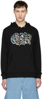 Kenzo Black Embroidered Logo Hoodie