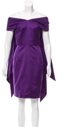Saint Laurent Off-The-Shoulder Mini Dress w/ Tags