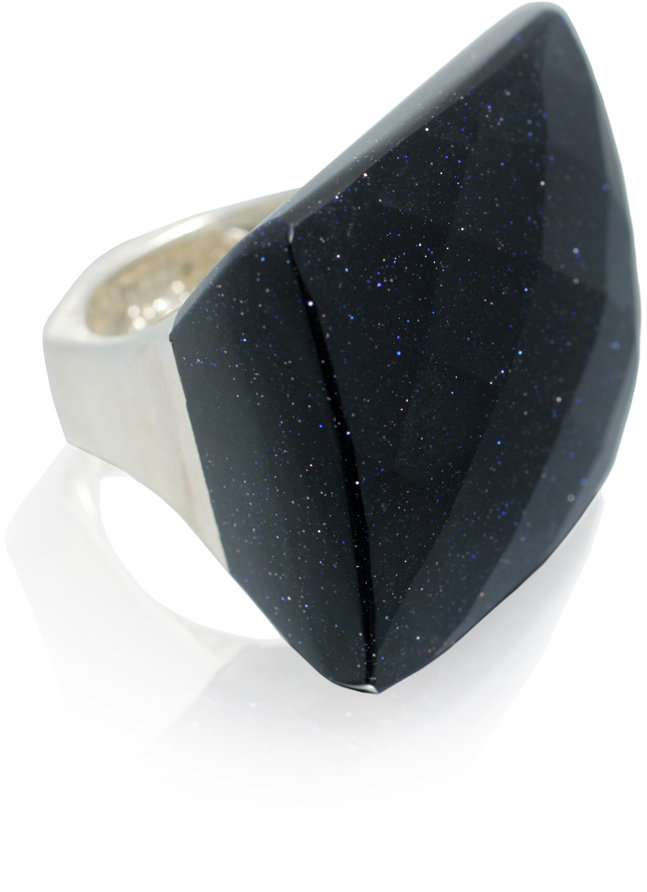 Lisa Galibardy Lola Rose Sterling Silver Faceted Square Ring