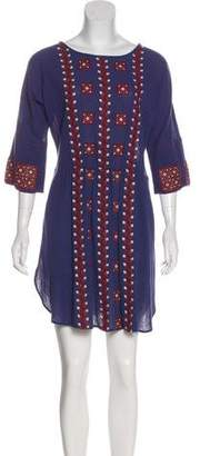 Mes Demoiselles Embroidered Long Sleeve Tunic