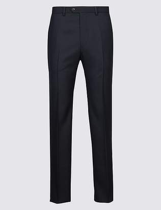 Marks and Spencer Tailored Fit Pure Wool Flat Front Trousers