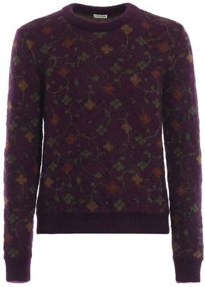 Saint Laurent Floral Intarsia Sweater