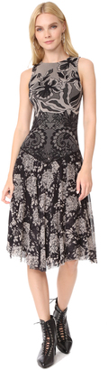 Fuzzi Stampa Layered Lace Sleeveless Dress $595 thestylecure.com