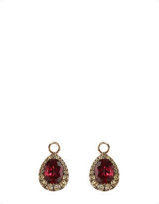 Rosegold Annoushka 18ct rose-gold, garnet and diamond earring drops
