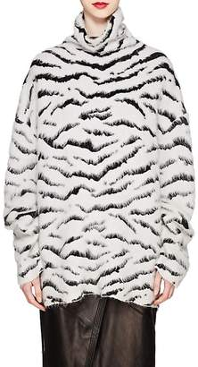 Givenchy Women's Zebra-Pattern Mohair-Blend Jacquard Sweater