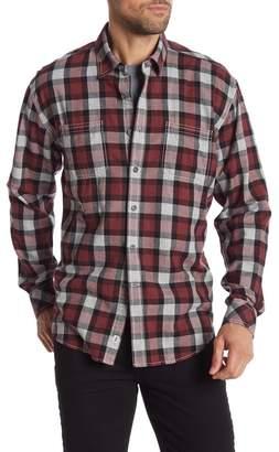 James Campbell Robo Plaid Woven Regular Fit Shirt