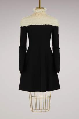 Valentino Lace inserts long sleeves dress