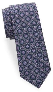 Saks Fifth Avenue Medallion Design Silk Tie
