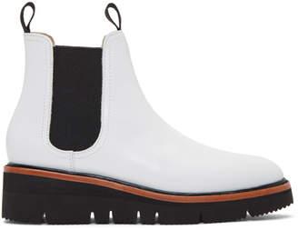 Rag & Bone White Taryn Chelsea Boots