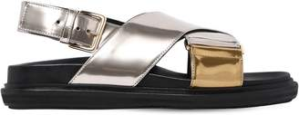Marni 30mm Crisscross Mirror Leather Sandals